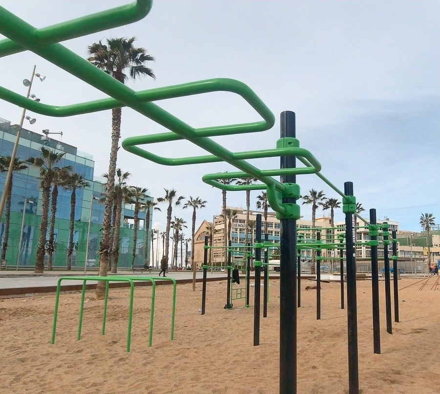 Calisthenics Park in Barcelona, Spain