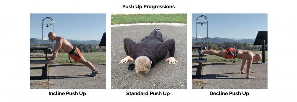Push Up Progressions